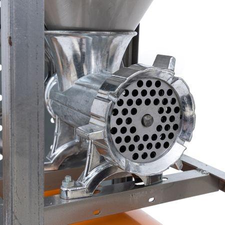 Masina Tocat Carne Nr.32 Aluminiu, Motor Electric 900W URAL, Palnie Mare si Masa Inox 2
